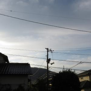 広島は午前は晴れ、午後は曇り/2019/10/17 7:45の空の風景