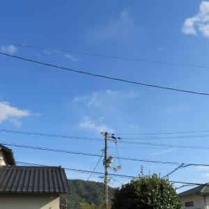 広島の空は青空が大変綺麗です/2019/10/22 15:30の空の風景