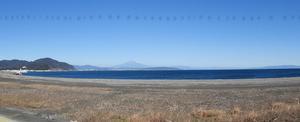 南アルプス 富士山 伊豆半島先端 パノラマ