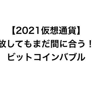 【2021仮想通貨】手放してもまだ間に合う!?ビットコインバブル