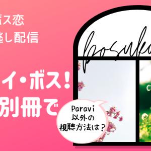 ドラマ【ボス恋】見逃し!Paravi以外の動画視聴方法は?
