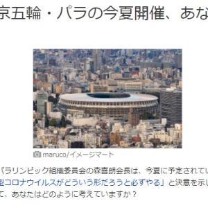 大会ボランティア辞退者1000人に ~五輪強行開催に賛成?~