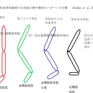 脳性麻痺 痙直型両麻痺 歩行パターンの分類