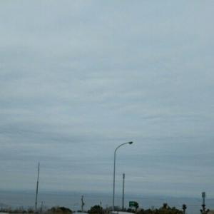 海と空が、きれい。