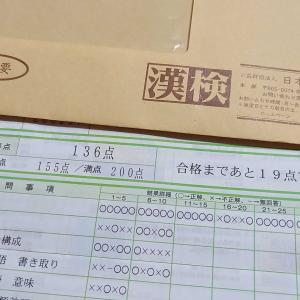 漢字検定の結果は