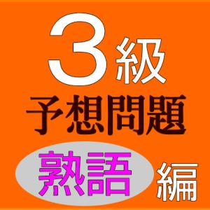 英検3級 過去問/問題集//熟語// 第4問