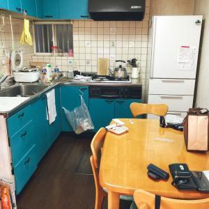 副反応で2日間放置したキッチン