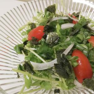 【キットオイシックス】豆苗のチョレギサラダ!シャキシャキ食感だけどリピ無し