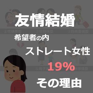 友情結婚希望者の内ストレート女性は19%も【その理由】