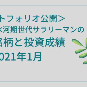 <ポートフォリオ公開>私の保有銘柄と投資成績 【2021年1月】