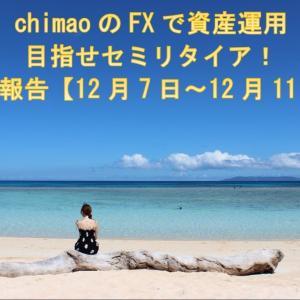 兼業トレーダーchimaoのFXで資産運用!目指せセミリタイア収益報告【12月7日~12月11日】
