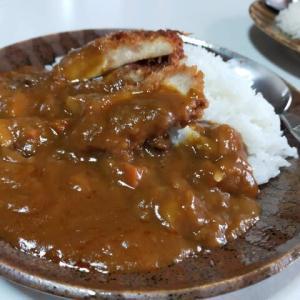 カツカレーと豆腐ツナバーグ