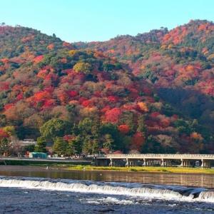 コロナ禍でのヴァーチャル京都もみじ狩(その10 嵐山 渡月橋)