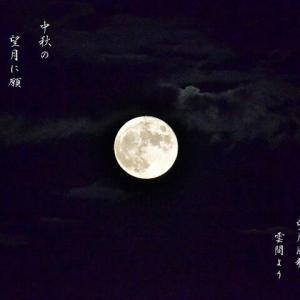 中秋の 望月に願 疫の鎮