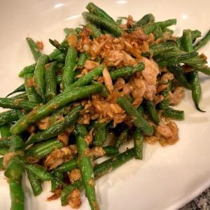 食べだしたら止まらない!旬のお野菜さやいんげんのツナにんにく醬油炒めレシピ!