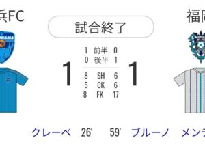 横浜FC戦1-1 3バック相手だと中盤で拾えない
