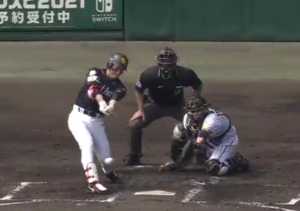 阪神戦8-3  初回の三森の得点