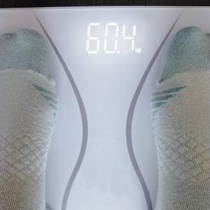 6月1日64.3kgからの今日の体重。