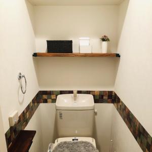 【トイレ改造④】地味な作業の末、棚完成!
