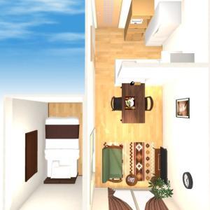 【CD練習:狭め1LDK】③残りの家具選びと3Dやり直し