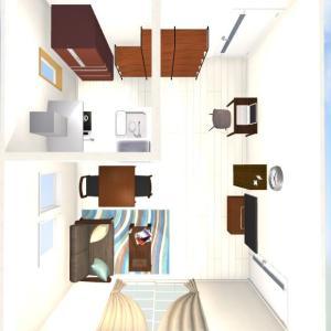 【CD練習:自宅】① 現状の間取りと家具配置