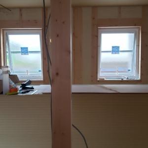 上棟だいたい2か月目、進捗。子ども部屋と納戸の比率がおかしい。