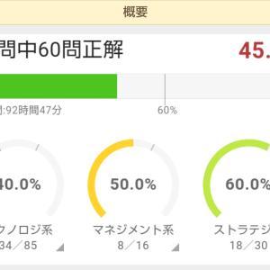 応用情報 1月5日 45.8%