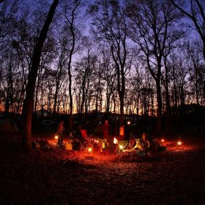 ソロキャンプの集まり