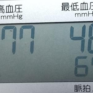 最高血圧が77でした