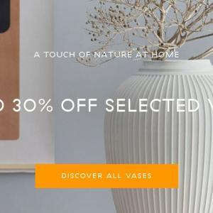 【Kähler,Holmegaard】一部花瓶 最大30%OFF