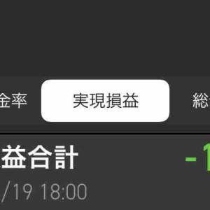 今日の確定損益は-14,362円 #富士急 を損切り その他なんか変なテンションでいっぱい売買