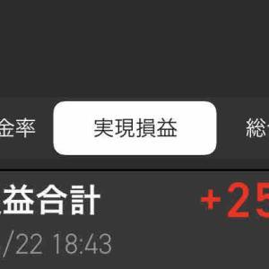 今日の確定損益は+254,927円 #郵船(9101)利確 #トリドール(3397)利確