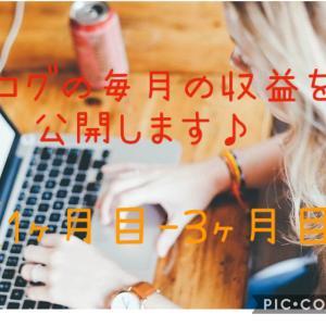 ブログの毎月の収益を公開します♪【1か月目~3か月目】