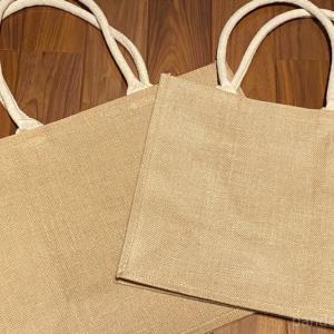 【無印良品】最近よく見かけるジュートマイバッグ。一時的な収納袋として使っています