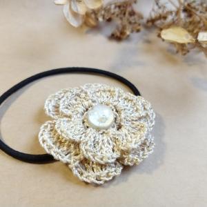 かぎ針編みで☆お花のヘアゴム
