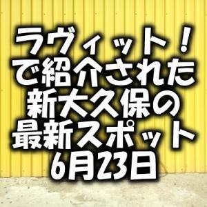 ラヴィット!新大久保の最新スポットはどこ?藤本美貴&中村仁美(6月23日)