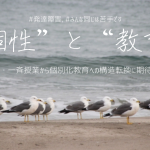 """続) 個性と教育環境のすり合わせ:""""画一・一斉""""から""""個別化""""への期待"""