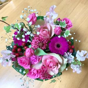 誕生日プレゼントの花