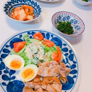 #豚肉のしょうが焼き #おうちごはん #今天的晚饭 #ポテトサラダ #晩ご飯