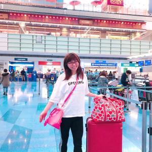 #羽田空港 #国際線ターミナル #出発 #タイ航空 から #行ってきます #女子旅 #空港