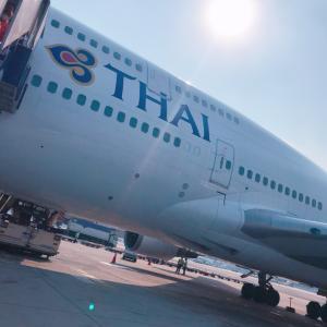 #バンコク #到着 #タイ航空 #機内食 35℃暑い #スワンナプーム空港 #タイ旅行
