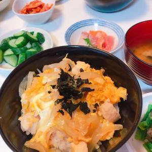 #新年快乐 #春节假期 #おうちごはん #今天的晚饭 #親子丼 #蛋鸡盖饭 #美味しかった