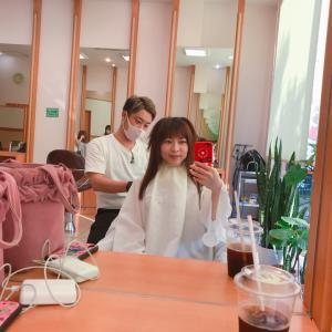 いま #美容室 #NOBhairdesign に来てるよ❤️ #AUJUA #カラー #オージュア