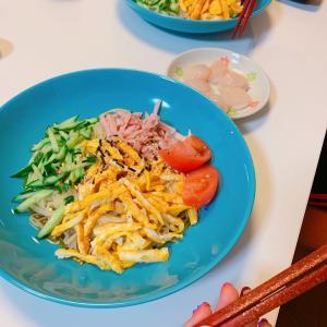 #冷やし中華 #美味しかった #今天的晚饭 #おうちごはん #今日の夕飯 #晩ご飯 #麺