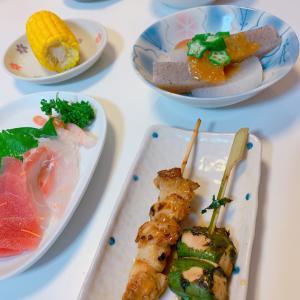 #生鱼片 #おうちごはん #やきとり #美味しかった #今日の夕飯 #