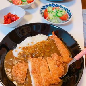 #カツカレー #咖喱饭 #今日の晩ご飯 #おうちごはん #とんかつ #かつカレー #夕飯