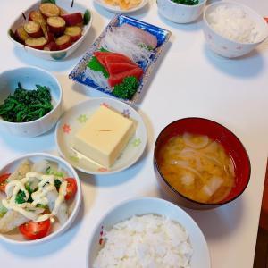 #今日の夕飯 #晩ご飯 #sashimi #生鱼片 #今天的晚餐 #お家ご飯 #さつまいも