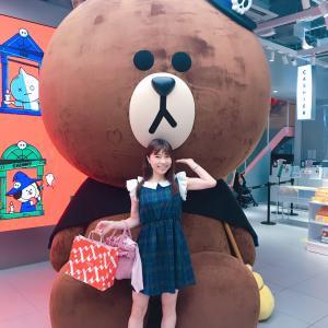 #LINEFRIENDS #原宿 わあーい #ブラウン君 と #LINE #LINEグッズ