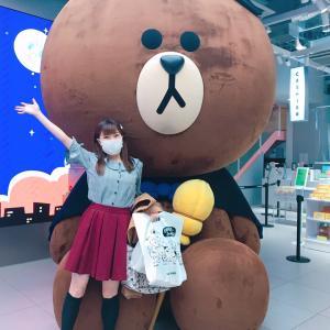 #LINE #ブラウン君 とパチリ❤️ #LINEfriends #原宿 #ハロウィン #巨大くま