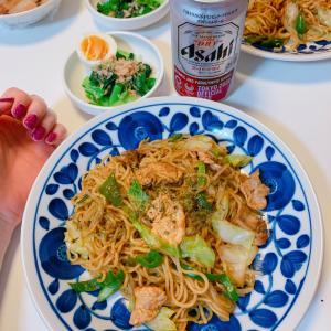 #やきそば #今天的晚饭 #炒面蔬菜 #焼きそば #美味しかった #晩ご飯